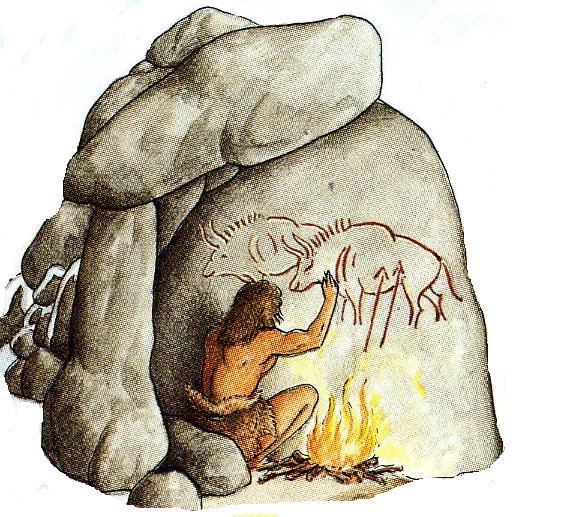 Картинки древних людей рисующих